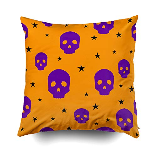 Musesh Happy Halloween Background Abstract Halloween Pattern Cushions Case Throw Pillow Cover for Sofa Home Decorative Pillowslip Gift Ideas Household Pillowcase Zippered Pillow Covers 20X20Inch]()