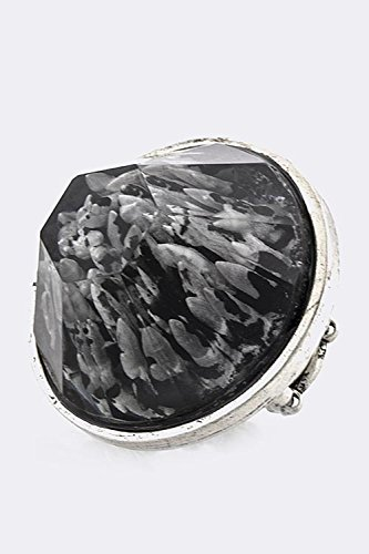 BAUBLES & CO CLEAR ACRYLIC ROCK RING (Black) (Tacori Ring Prices)