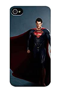 Iphone 4/4s Man Of Steel Print High Quality Tpu Gel Frame Case Cover For New Year's Day