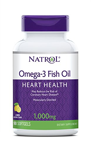 Natrol Omega-3 Purified Fish Oil 1,000mg, 90 Softgels (Pack of 4) For Sale
