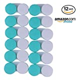 CONTACT LENS CASE - Value Pack of 12 Contact Cases. New Case Every Month For 1 Year Supply | Perfect for Home and Travel … (Green)