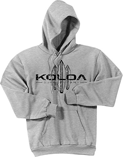(Koloa Surf -Vintage Surfboard Hoodies-Hooded Sweatshirt-Ash-XL)