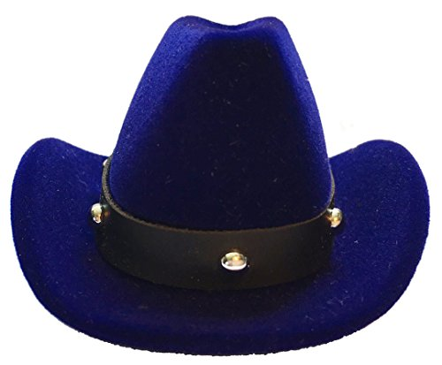 Groom Cowboy Hats - Sheep Dreams Cowboy Hat Shaped Ring Box, Engagement Ring Box, Sombrero de Vaquero por Anillo de Compromiso, Proposal Ring Box, Groom Wedding Ring Box (Navy Blue)