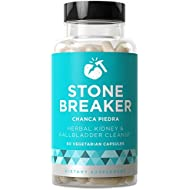 STONE BREAKER Chanca Piedra - Natural Kidney Cleanse and Gallbladder Protection - Detoxifying Strength for Discomfort, Nausea, Urinary System - Hydrangea & Celery Seed - 60 Vegetarian Soft Capsules