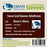 Swan Card Sleeves (80x80mm) - 150 Pack, Thin Sleeves - Jungle Speed, Werewolves