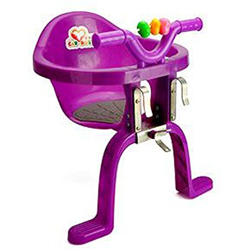 ISTN Front Mounted Child Bicycle Seat Plastic Hanging Chairs (Purple)