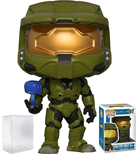 (Funko Pop! Games: Halo - Master Chief with Cortana Vinyl Figure (Bundled with Pop Box Protector Case) )