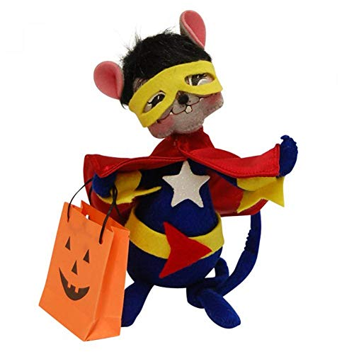 Annalee Mobilitee Doll Halloween Plush Super Hero Mouse -