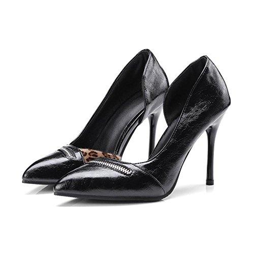 Razamaza Sandales Femmes Black Aiguille D'orsay ZwvOrqZ