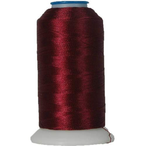 Threadart Polyester Machine Embroidery Thread By the Spool - No. 394 - Dark Maroon - 1000M - 220 Colors Available (Maroon Thread)