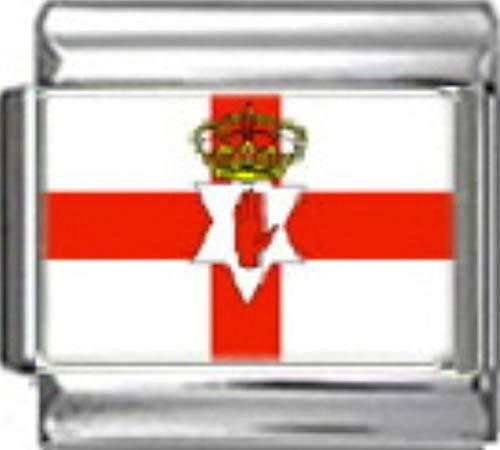 Stylysh Charms Northern Ireland Flag Photo Italian 9mm Link PC132