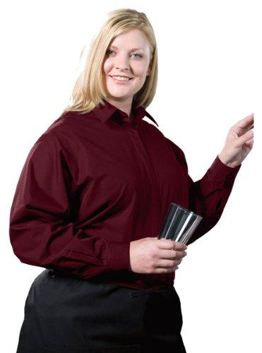 Edwards Garment Women's Long Sleeve Cafe Shirt_BURGUNDY_XX-Large by Edwards Garment