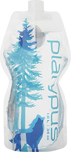 - Platypus Ultralight Collapsible SoftBottle with Closure Cap, 1.0-Liter, Wild Blue