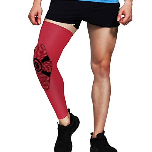 Unisex Sports Sleeve Warmers Crashproof Basketball Knee Pads Patella Brace Support Cycling Protector,R,XL