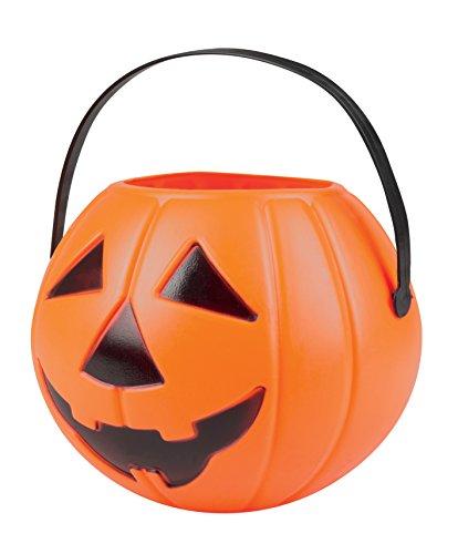 Boland Basket Pumpkin Halloween 'Trick or Treat', Orange 14x16 cm Arancione ()