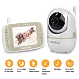 HelloBaby Video Baby Monitor with Remote Camera Pan-Tilt-Zoom, 3.2 Color LCD Screen, Infrared Night Vision, Temperature Monitoring, Lullaby, Two Way Audio, Includes Wall Mount Kit