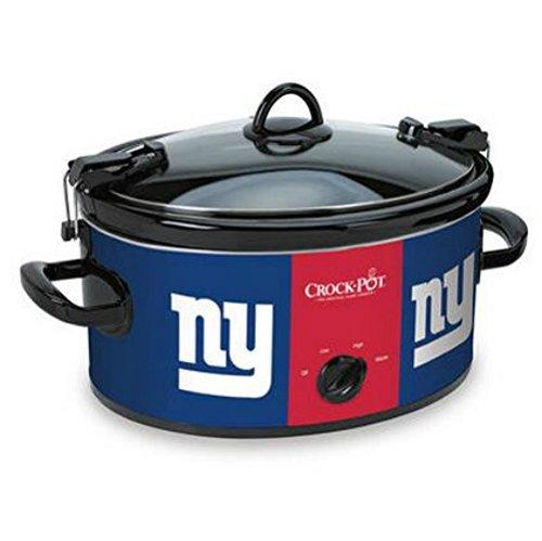 Official NFL Crock-pot Cook & Carry 6 Quart Slow Cooker – New York Giants