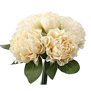 Anlise European Style Peony Artificial Flowers 1 Bunch Bouquet Silk Flower for Home Bridal Wedding 8