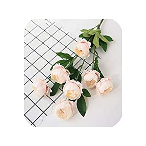 7 Heads Exquisite Peony high-Grade Artificial Flowers Wedding Flower Arrangement Road Lead Home Decoration Fake Flowers Peony 68
