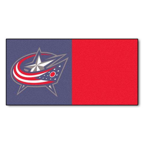 Price comparison product image Fanmats NHL Columbus Blue Jackets Nylon Face Team Carpet Tiles