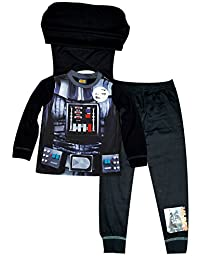 Boys licensed Official Star Wars Novelty Pajamas With Cape 2 to 8 Years
