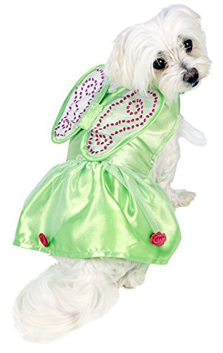 Tinkerbell Dog Costumes (Rubie's Official Tinkerbell Dog Costume - Medium, Green by Rubie?s)