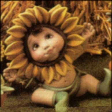 Sunflower Sweet Tot Hands Up 6 1//2 Ceramic Bisque Ready to Paint