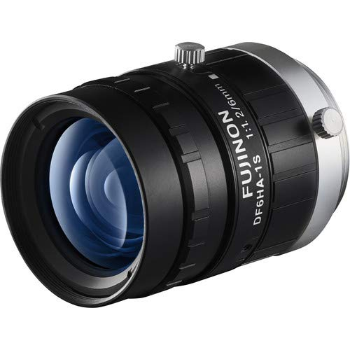Fujinon DF6HA-1S 1/2'' 6mm F1.2 Manual Iris C-Mount Lens, 1.5 Megapixel Rated, Anti-Shock & Vibration Feature by Fujinon