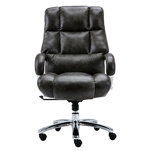 LYON Big and Tall Overstuffed Faux Leather High Back Office Chair by Lyon