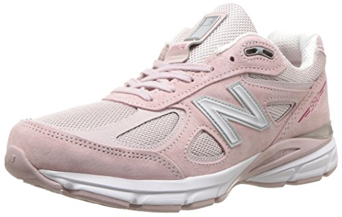 New Balance Women's 990v4 Running Shoe, Faded Rose/Komen Pink, 6 B US