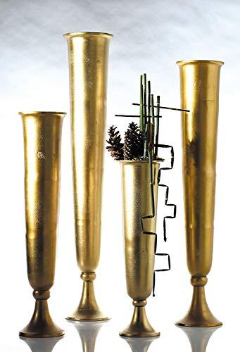Accent Decor (ACD-) Milan Vase Metal Trumpet 6.25