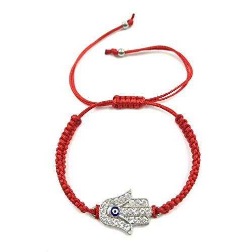 (2927 Evil Eye Bracelet Red String Hamsa Charm Kabbalah Jewelry for Protection)