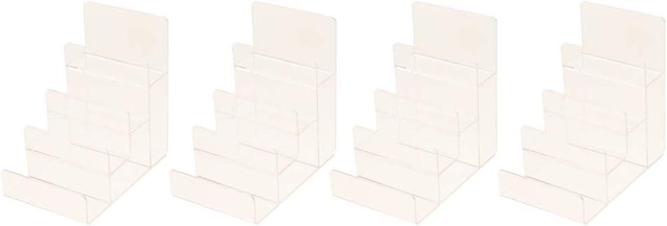 Amazon.es: Sharplace 4 Piezas Estante de Exhibición de Escalera de Acrílico Transparente para Billetera Figura de Acción: Juguetes y juegos