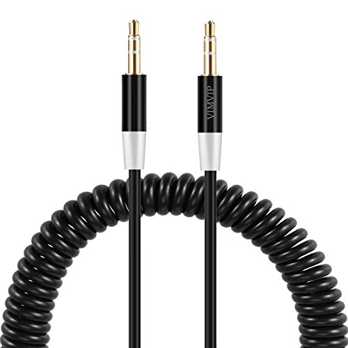VIMVIP Flexible Spring 3.5mm To 3.5 mm Car Aux Audio Cable for iPhone/iPod/iPad/mp3/mp4/phone/Tablet PC
