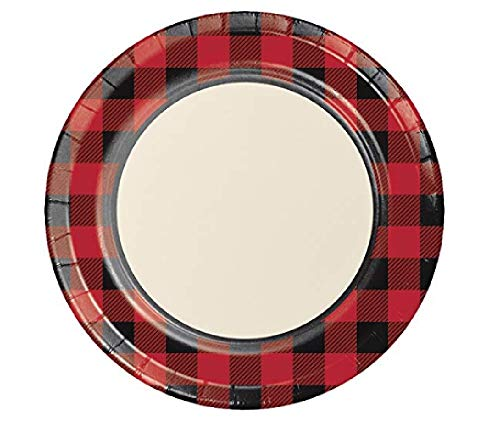 Buffalo Plaid Paper Plates, 48 ct -