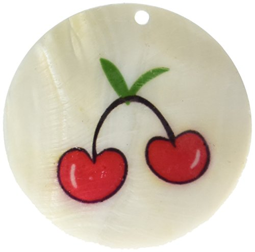 (Blue Moon Bella Artiste Shell Pendant, 1/Pkg, Round/Cherry, Natural)