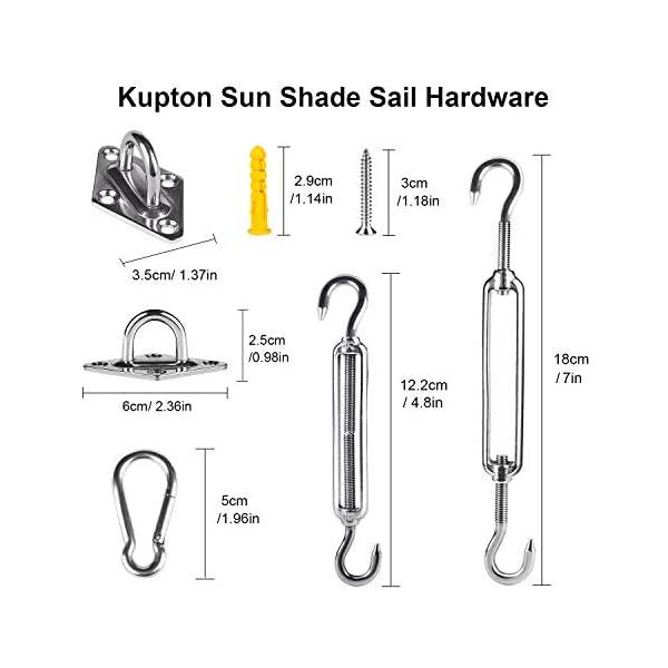 410LhGwavPL Kupton Sun Sonnensegel und Sonnensegel-Hardware-Kit für Installation