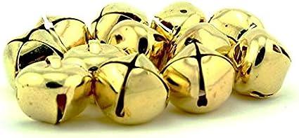 100 X Vert Mini Jingle Bells 6 mm x 8 mm