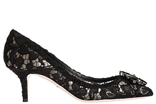 Dolce & Gabbana Damenschuhe Pumps mit Absatz High Heels Bellucci Schwarz