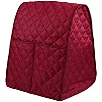 RICHELE Dustproof Stand Mixer Cover with Organizer Bag for Kitchenaid Mixer (Dark Red)