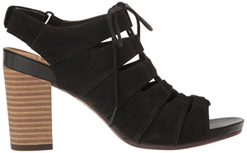 Nubuck Waneta Banoy Black Sandal Clarks Dress Women's qfx8H