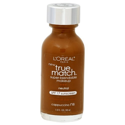 L'Oréal Paris True Match Maquillage Super-Blendable, Cappuccino, Once 1-Fluid