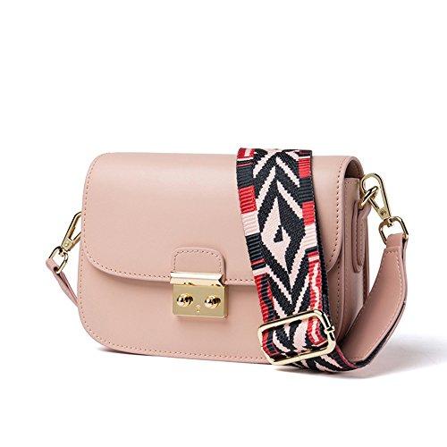 Messenger Bag Wide Lederen Fashion Xddb Small Bag Roze XRpOnY1