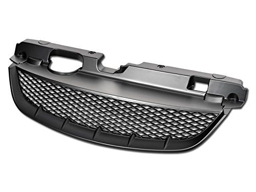 R&L Racing Matte Black Finished JDM T-R Mesh Style Hood Bumper Front Grille Grill Cover for 2004-2005 Honda Civic 2Dr/4DR, MPN: (Honda Civic 4dr Grille)