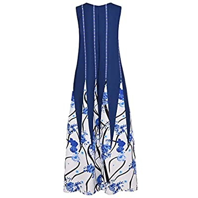 Plus Size Dress for Women Vintage Ethnic Floral Print Summer Autumn Casual Sleeveless Bohemian Long Maxi Dress S-5XL at  Women's Clothing store