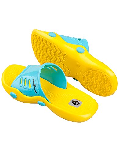 Mad Wave 01-chaussons M0316 3 0,06 W, Coloris: Jaune / Turquoise, Pointure: 36, Pointure 37