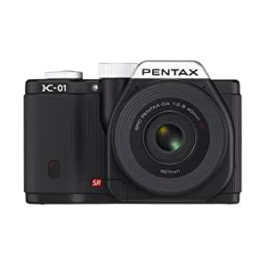Pentax 15274 16 MP Mirrorless Body Design Camera with DA L 18-55mm and 50-200mm Lenses - Black