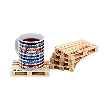 Pallet Euro palette coasters set of 5 for all kind of hot and cold drink