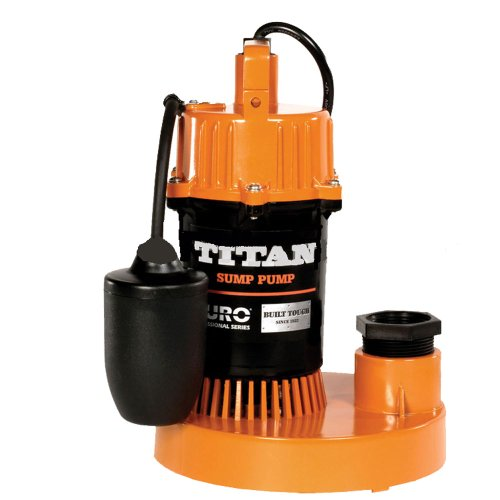 Titan Basement Submersible Sump Pump 1/3 HP - Tethered Float DSB250 by DURO