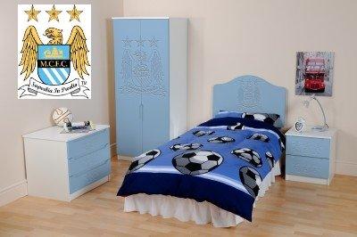 Manchester City Fc Ensemble Complet De Meubles De Chambre Armoire